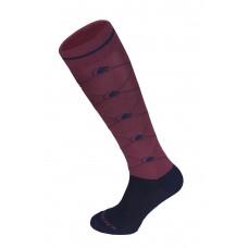 Fair Play Sokken Logo Burgundy