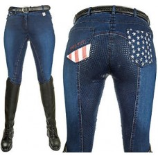 Junior Rijbroek -Stars en Stripes- denim